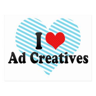Amo el anuncio Creatives Tarjeta Postal