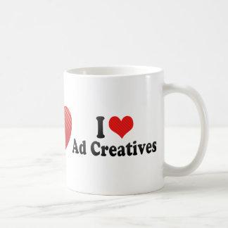 Amo el anuncio Creatives Tazas De Café
