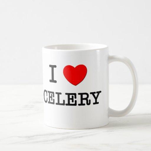 Amo el apio tazas de café