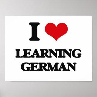 Amo el aprender de alemán póster
