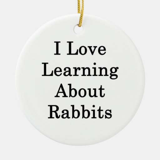 Amo el aprender sobre conejos ornamente de reyes