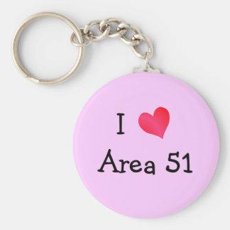 Amo el área 51 llaveros personalizados