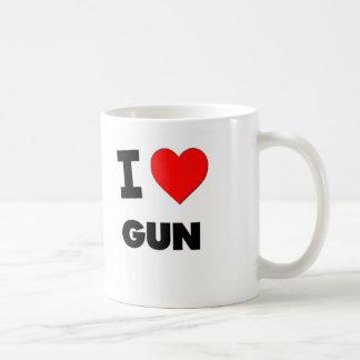 Amo el arma tazas