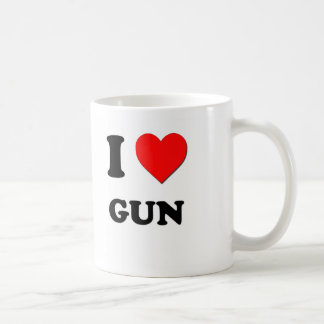 Amo el arma taza