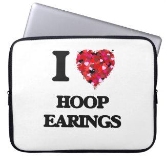 Amo el aro Earings Fundas Computadoras