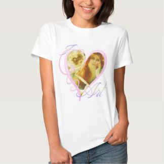 Amo el arte - camiseta remeras
