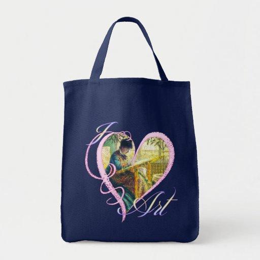 Amo el arte - la bolsa de asas