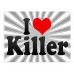 Amo el asesino tarjetas postales