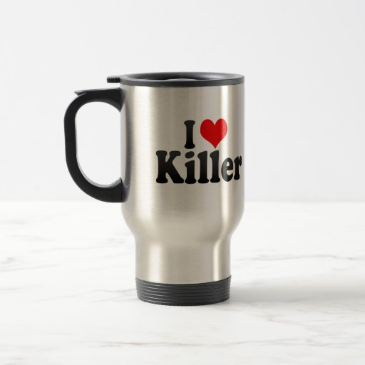Amo el asesino tazas