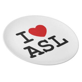 Amo el ASL Plato