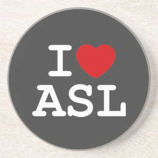 Amo el ASL Posavasos Manualidades