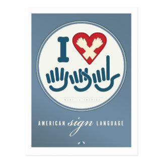 Amo el ASL Tarjetas Postales