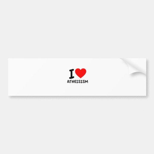 Amo el ateísmo etiqueta de parachoque