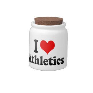 Amo el atletismo platos para caramelos