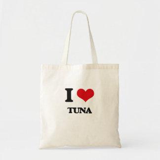 Amo el atún bolsa tela barata