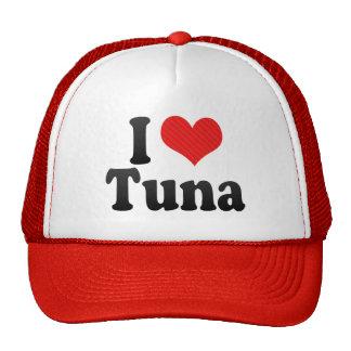 Amo el atún gorras de camionero