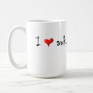 Amo el awk taza
