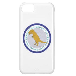 Amo el azul de T-Rex de los dinosaurios Carcasa iPhone 5C