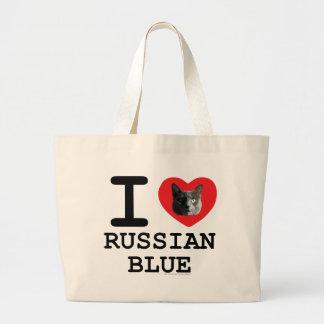 Amo el azul ruso bolsa