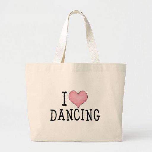 Amo el bailar bolsa tela grande