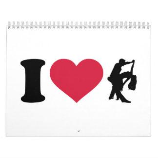 Amo el bailar de pares calendarios de pared
