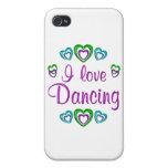 Amo el bailar iPhone 4 cárcasa