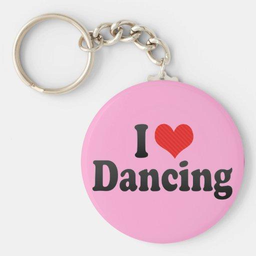 Amo el bailar llavero redondo tipo pin