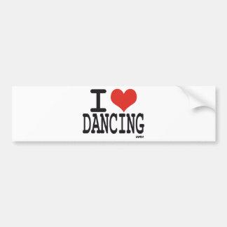 Amo el bailar pegatina para auto