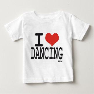 Amo el bailar playera de bebé