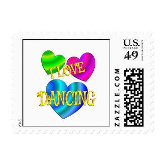 Amo el bailar sellos postales