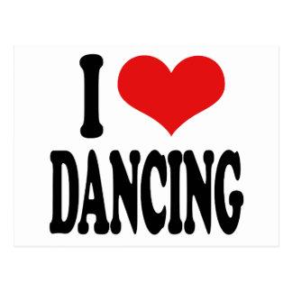 Amo el bailar tarjeta postal