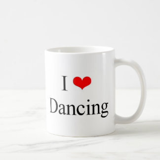 Amo el bailar taza básica blanca