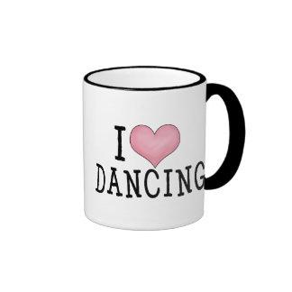 Amo el bailar taza de dos colores