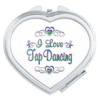 Amo el baile de golpecito espejo para el bolso
