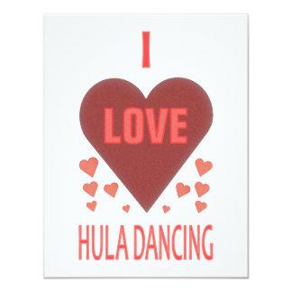 """Amo el baile de Hula Invitación 4.25"""" X 5.5"""""""