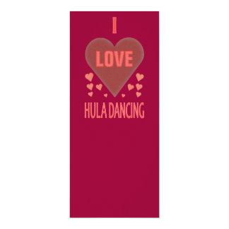 """Amo el baile de Hula Invitación 4"""" X 9.25"""""""