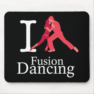 Amo el baile de la fusión tapete de raton