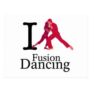 Amo el baile de la fusión postales