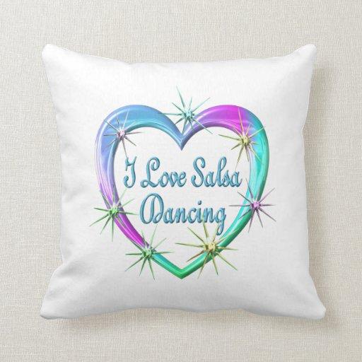 Amo el baile de la salsa almohada