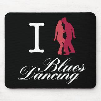 Amo el baile de los azules alfombrillas de raton