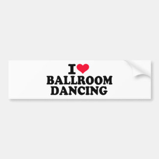 Amo el baile de salón de baile pegatina para auto