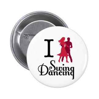 Amo el baile del oscilación pin redondo de 2 pulgadas