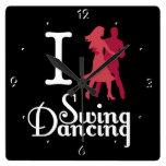 Amo el baile del oscilación relojes