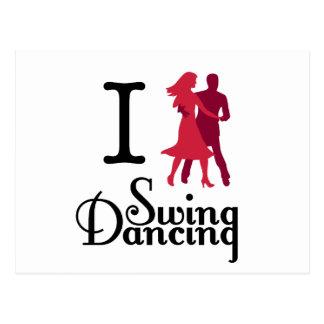 Amo el baile del oscilación tarjeta postal