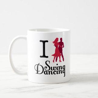 Amo el baile del oscilación taza