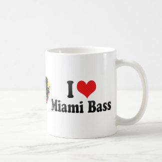 Amo el bajo de Miami Tazas De Café