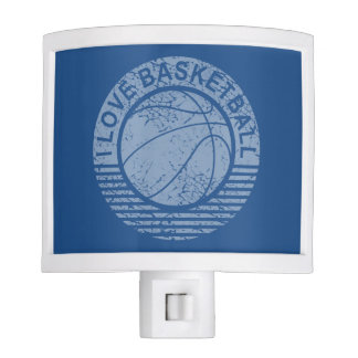 amo el baloncesto - grunge lámparas de noche