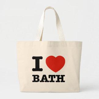 Amo el baño bolsas lienzo