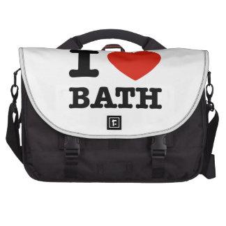 Amo el baño bolsas de portátil