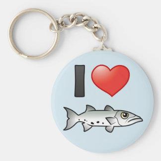 Amo el Barracuda Llaveros